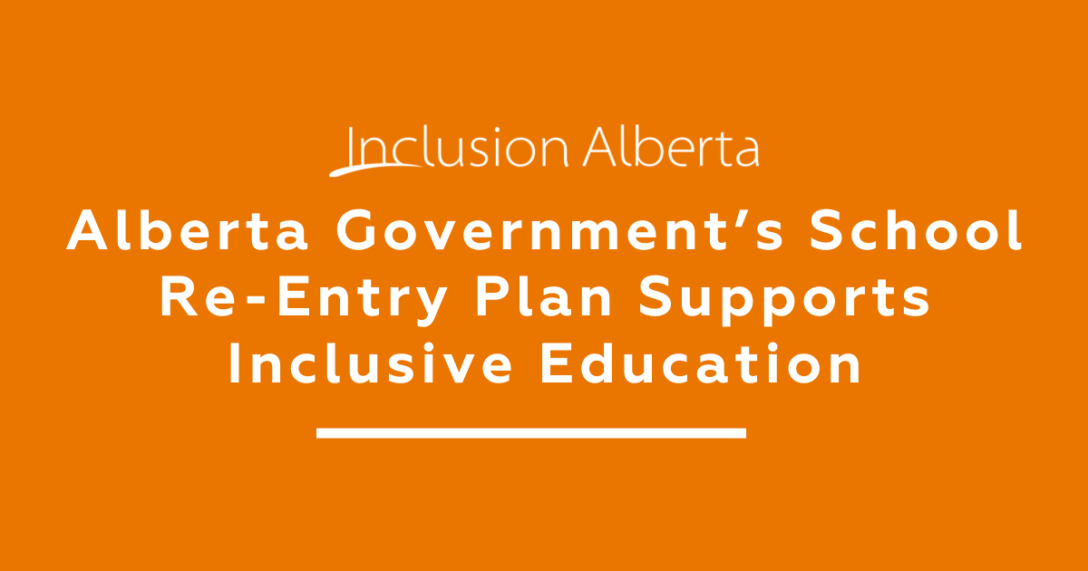 Alberta Government school re-entry plan supports inclusive education
