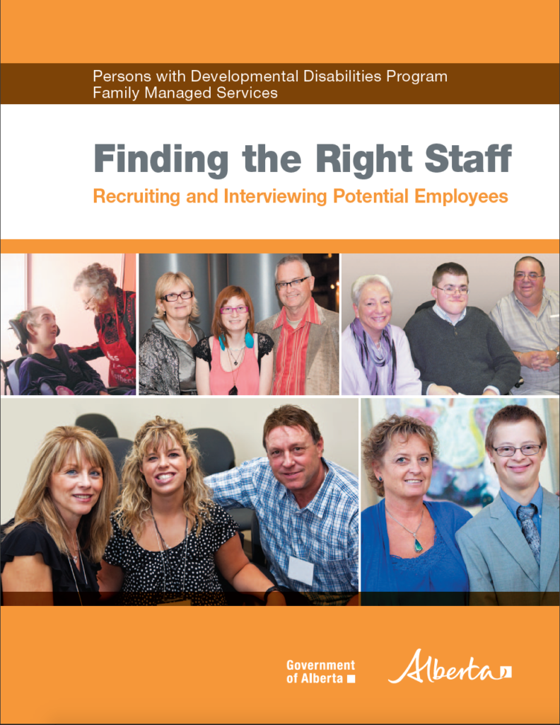 cover page of 'finding the right staff'