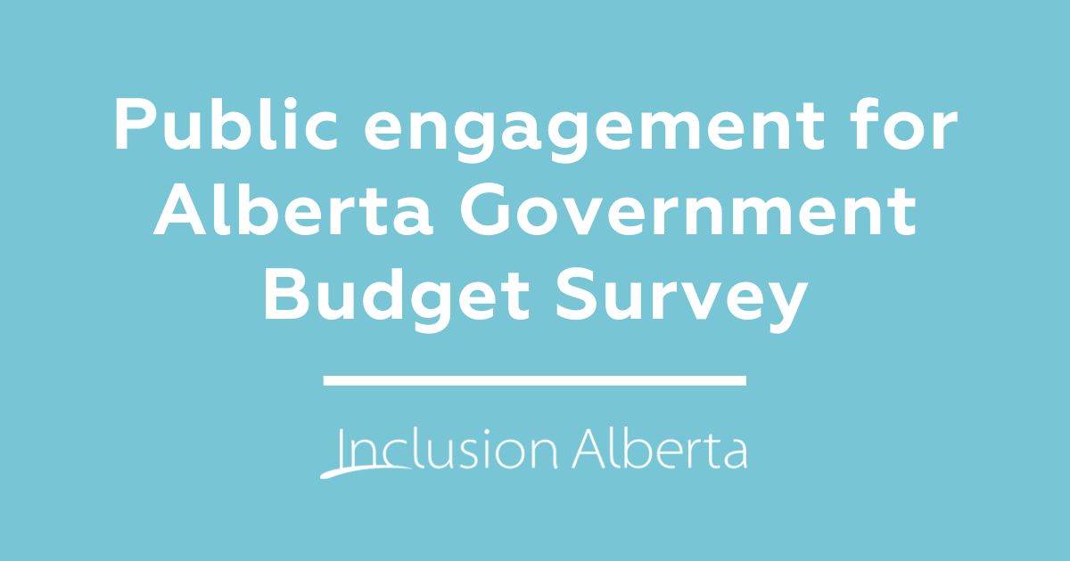 Public engagement for Alberta government budget survey