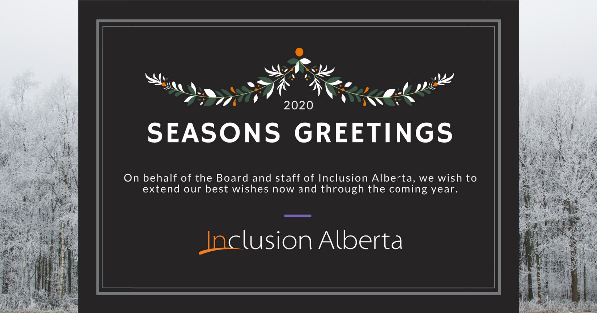 Seasons Greetings from Inclusion Albert