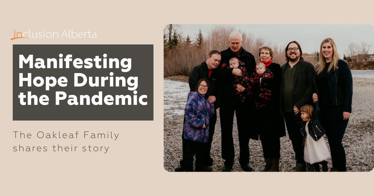 Manifesting hope during the pandemic. The Oakleaf Family shares their story. The family is posed on a rocky river front on a winter day. Pictured is Jess, Stephen, parents David and Ann, Catherine and her husband Kevin and their three small children.